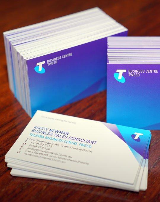 Business Cards Telstra Tweed Matt Cello Finish