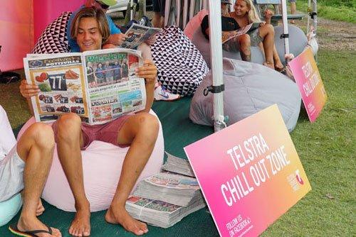 Corflute Sign Printing Australia Telstra surfing event