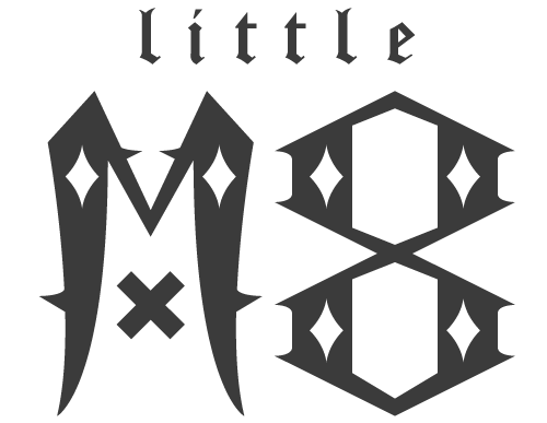 little m8 logo design by vertex media