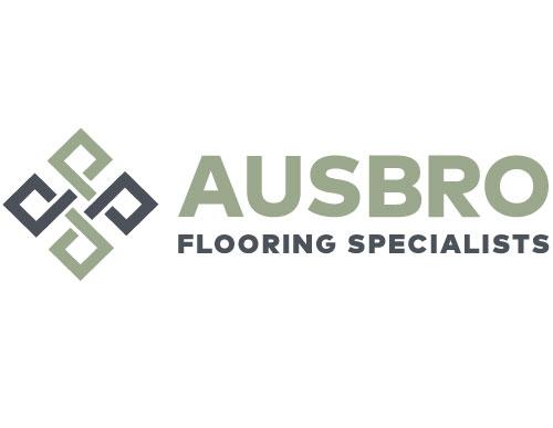 logo design ausbro flooring specialists by VERTEX MEDIA Creative Studio