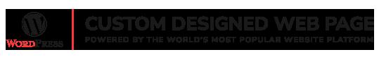 WordPress custom designed page for Find me on Google